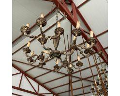 Candelabru bronz cu 12 becuri