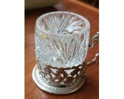 ceasaca  argint/cristal